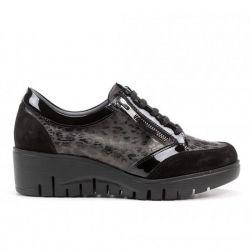 Zapato calf Negro leopardo