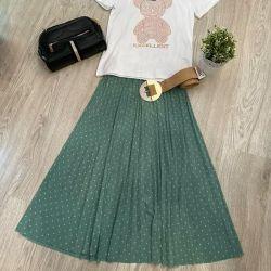 falda pliegues